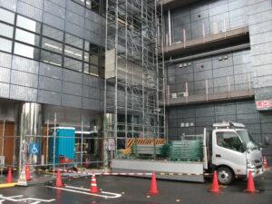 産業文化センター工事に伴う一部区画規制と騒音について